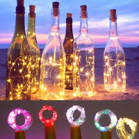 2M 20 LED Light Copper Cork Shaped on a Bottle String Light Wire Lamp Decor US
