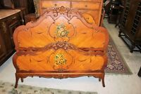 Victorian Antique Rosewood Full Size Bed With Rails & Slats | Bedroom Furniture