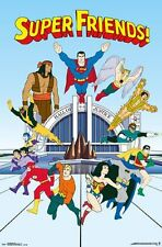 SUPER FRIENDS - TEAM POSTER - 22x34 DC COMICS SUPERMAN BATMAN FLASH 14218
