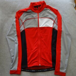 Cannondale Red Long Sleeve Cycling Jersey in Used Condition - Size Medium