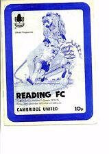 Reading v Cambridge United 1975/76 division 4
