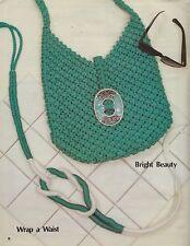 The Fashionable Macrame Purse Vintage Book #8315 Shoulder Hand Bag Belt Patterns