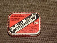 VINTAGE A H LEWIS MEDICINE NATURES REMEDY TIN *EMPTY*