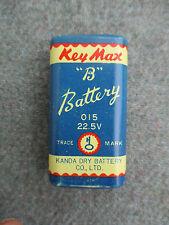 "VINTAGE 1961 JAPAN KEY MAX ""B"" TRANSISTOR RADIO KANDA DRY BATTERY 9-VOLT SIZE"