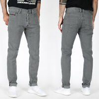 new Diesel Mens Slim Tapered Fit Stretch Jeans - Grey - Tepphar R18D6
