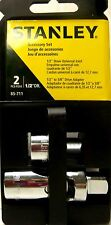 """STANLEY 1/2"""" Drive Universal Joint & Adapter 1/2"""" to 3/8"""" 2 Pcs Set NEW"""