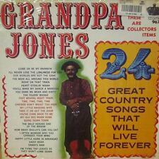 Grandpa Jones(Vinyl LP)24 Country Songs That Will Live Forever-King-K 9-Ex/VG