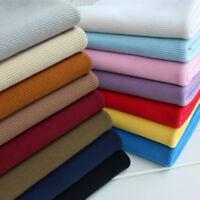 Heavy Stretch Knit Down Jackets Cuff Waistband Neckline Rib Ribbed Trim Fabric