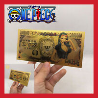 BILLET TICKET FIGURINE ONE PIECE MANGA NICO ROBIN MONKEY CARTE COLLECTOR GOLD OR