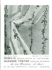 Publicité ancienne papiers peints Nobilis Suzanne Fontan  1959