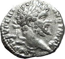SEPTIMIUS SEVERUS 198AD  Rome Silver Rare Ancient Roman Coin PAX Peace i59465