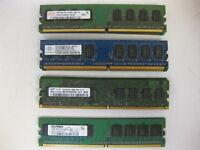 Major Brand 4GB Kit (4x1GB) 2Rx8 PC2-6400U 800Mhz DDR2 Desktop RAM Memory