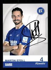 Martin Stoll Autogrammkarte Karlsruher SC 2016-17 Original Signiert+A 138609