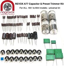 Revox A77- UNIVERSAL capacitor and preset trimmer upgrade kit for all Mk1 - 4