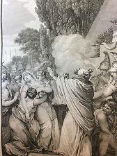 Les Métamorphoses d' Ovide Le sacrificateur de Polyxène  Troie estampe de 1806