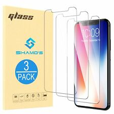 For iPhone XR [3 Pack] Screen Protector Tempered Glass Protector Film by Shamo's