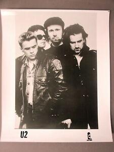U2 promo photo 8 X 10 glossy black & white Closeup !