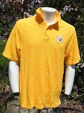 Reebok NFL Merchandise PITTSBURGH STEELERS Men's Short sleeve Polo Sz M/L