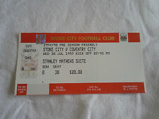 Stoke City v Coventry City Unused Tickets x 4 30/7/97 fr last game at the Vic