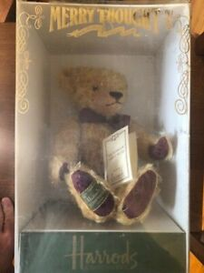 Harrods Merrythought Gold Teddy Bear Made in England 184 of 500