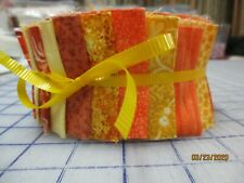 Awesome Shades Of Yellow & Orange Jelly Roll For Quilters