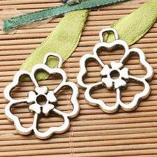8pcs dark silver color hollow flower  design charms  EF2803