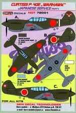 KORA Decals 1/72 CURTISS P-40E WARHAWK Captured Japanese Aircraft Part 1