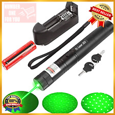 Green Laser Sd Pointers Strong 100000m 532nm High Power with Charger + Battery