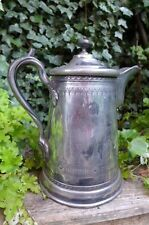 ANTIQUE LARGE DOUBLE WALL PITCHER 17 APRIL 1854 REED & BARTON PATENT 16119 12''