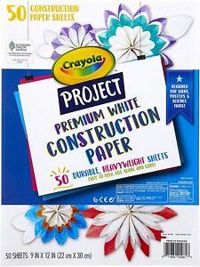 Crayola White Construction Paper, Premium Art Supplies, Standard Size, 50 Count,