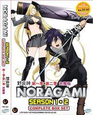 JAPAN Anime DVD NORAGAMI Season 1+2 Complete TV Series (1-26 End) English Sub