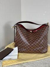 Louis Vuitton Damier Delightful MM Shoulder Bag Ebene Handbag Purse