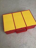 LEGO Vintage 1989 Storage Carry Case Building Base Plates Sliding Box W/ Legos!
