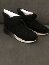 BNIB Ash Mitsouko Shearling Straights Boots Size 6 / 39 Black Baby Soft RRP £179