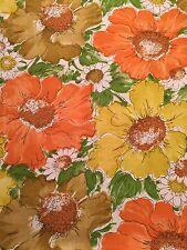 Vtg Perma Prest Sears & Roebuck Non Iron MCM Retro 3pc Floral Full Sheet Set