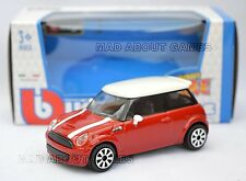 MINI COOPER S 1:43 Car NEW Model Die Cast Models Cars Diecast Burago Bburago Red