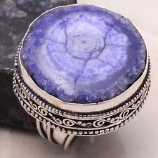 Fine Design Ring 925 Sterling Silver Plated Jewelry Size 10 Natural Rainbow Solar Quartz Ring Gemstone Ring Ethnic Ring MG-24
