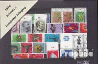 Schweiz gestempelt 1974 kompletter Jahrgang in sauberer Erhaltung