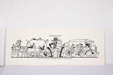 MICH Caricature LE CODE DE LA ROUTE Automobiles Animaux Gendarme Gravure v 1920