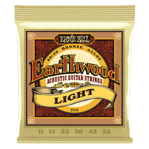 ERNIE BALL Earthwood 2004 80/20 Bronze Acoustic Guitar Strings 11-52 Light