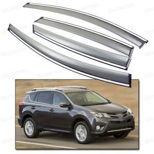 4Pcs Window Visor Vent Shade Rain/Sun/Wind Guard for 2013-2015 Up Toyota RAV4