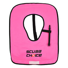 Scuba Choice Neon Pink Youth Snorkel Vest Scuba Choice print, w/ Name Box