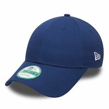 NEW ERA MENS 9FORTY BASEBALL CAP.GENUINE BLUE BASIC CURVED PEAK ADJUSTABLE HAT 2
