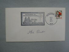IKE  RUDE (DIED IN 1985)  Rodeo  Hall of  Fame   Signed  1977  Stamped Envelope