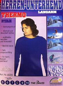 2x Thermounterhemd Herren Unterhemd langarm Gr. 5-10 mehrere Farben