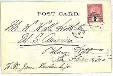 CEYLON - POSTAL HISTORY:  POSTCARD to USA
