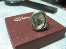 Vintage Abelone, mother-of-pearl 70's adjustable ring