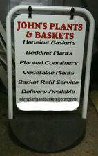 BUSINESS PAVEMENT SIGN A BOARD PERSONALISED FULLY SIGNWRITTEN SWINGING SIGN
