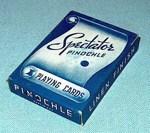 Factory Sealed! SPECTATOR Pinochle Playing Cards One Pack Stamp POKER Size