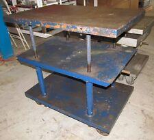 Adjustable Height Industrial Table